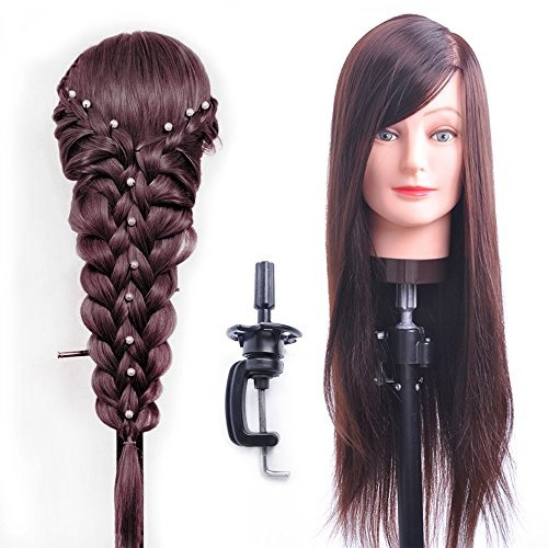 Hairealm 26 Mannequin Head Hair Styling Training Head Manikin Cosmetology Doll Head Synthetic Fiber Hair Table Clamp Stand Included Sc04p Wish