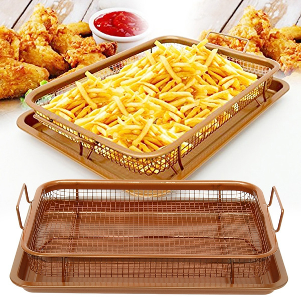Steel, tray, fryingbasket, nonstick