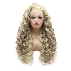wig, Synthetic Lace Front Wigs, Lace, lights