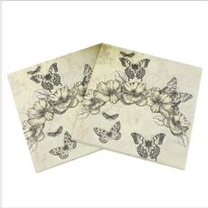 butterfly, decoration, Craft, napkin