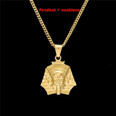 Steel, goldplated, pyramid, Jewelry