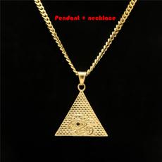 pyramid, eye, fashiongift, Chain