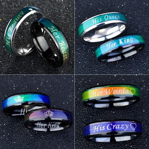 Couple Rings, Steel, Fashion, Women Ring
