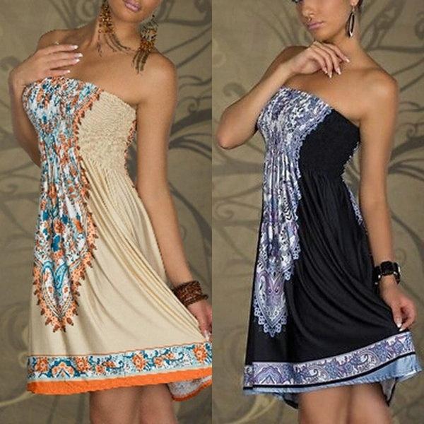 Summer, Fashion, Mini, Dress