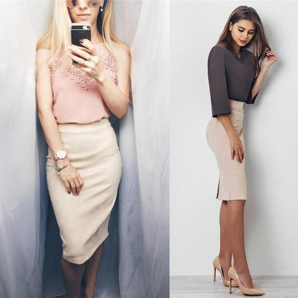 pencil, pencil skirt, high waist, Office