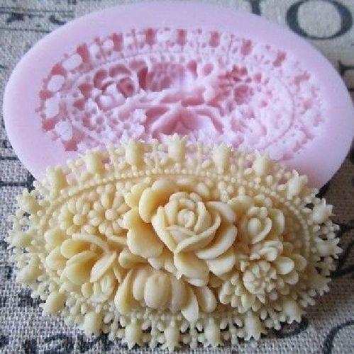 Decor, Flowers, flowerrosedecoratingmold, 3droseflowermold