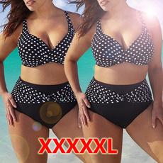 Summer, Plus Size, Polka Dot Bikini, damenmode