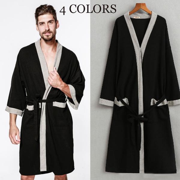 Summer, Plus Size, bathrobesformen, mensleepwear