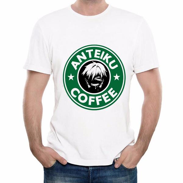 Summer, Coffee, Shorts, Shirt