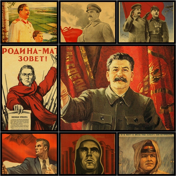 russiancomradejosephstalinportraitposter, Decor, Gifts, Posters
