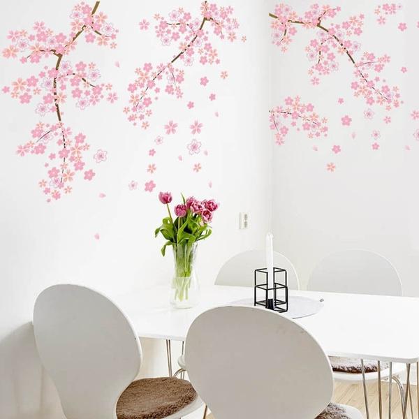 swallowsakurapinkflowerstreewalldecalsticker, butterflyflowerstreewallsticker, art, Home & Living