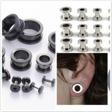 Steel, gaugeearring, Jewelry, earexpander