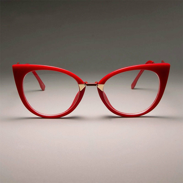 4 Colors Ladies Sexy Red Cat Eye Glasses Frames For Women Gorgeous Clear Lens Optical Eyeglasses Fashion Eyewear Wish
