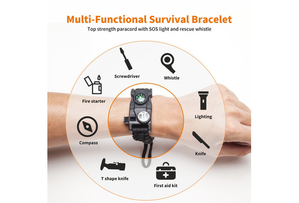 DIY Weave Style Anti-Lost Colorful Wrist Strap Grip Emergency Survival Bracelet for DSLR//SLR Cameras Random Color Delivery Durable