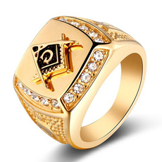fahionjewelry, Steel, bandring, goldplated