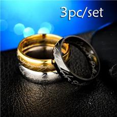 Steel, ringsformen, polished, lover gifts