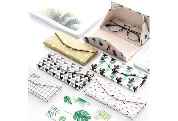 Lucklystar/® Creative Triangular Form Case for Folding Glasses Case Sunglasses Storage Box