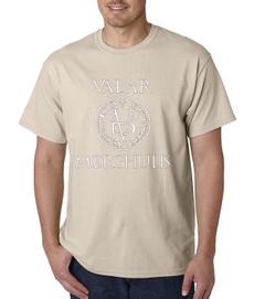 allmenmustdievalyriangameofthrone, Round neck, Fashion, Slim T-shirt