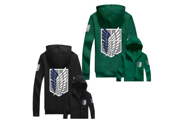 Attack On Titan Hood Anime Wings Of Freedom Survey Corps Hoodie 11 Colours