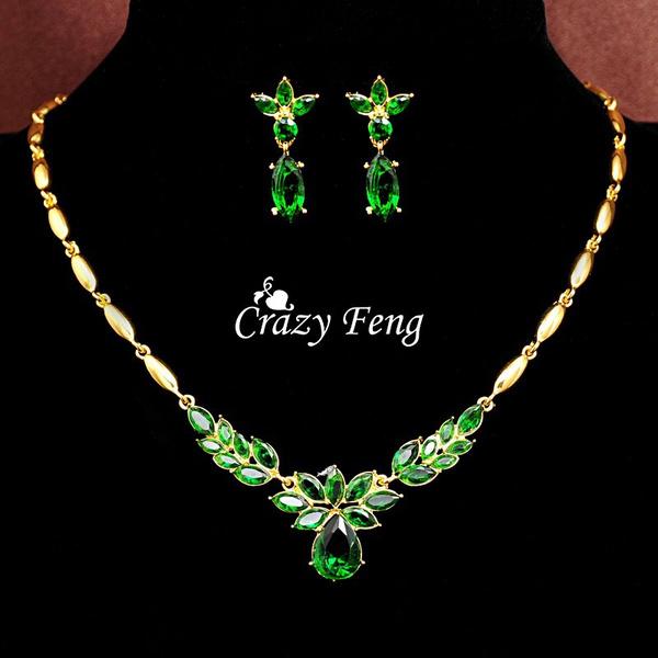 goldplated, Jewelry Set, Fashion, gold