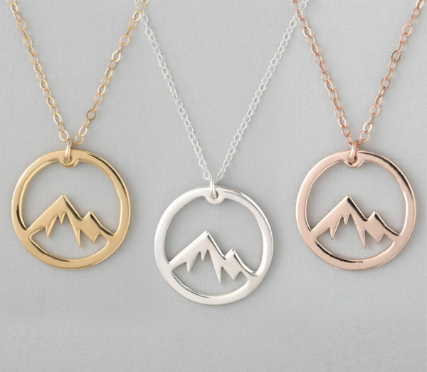 Sterling, Mountain, Chain Necklace, Jewelry