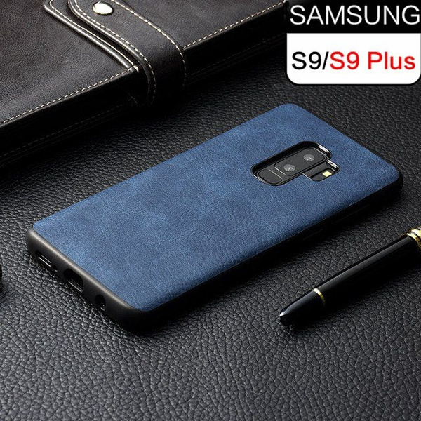 Phone Case for Samsung Galaxy S8 S9 S10 Plus Luxury Vintage PU Leather Case TPU silicone Soft Edge Back cover for S9 S9 S10 Note 8 Note 9 Coque | ...
