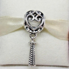 Sterling, Charm Jewelry, Heart, sterling silver