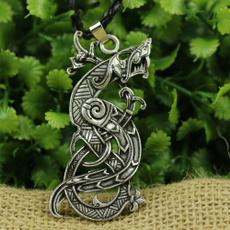 talismannecklace, vikingnecklace, dragon, amulet