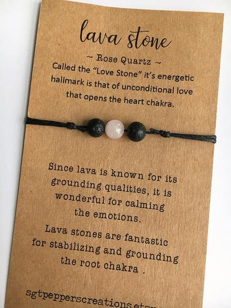 blacklavastonebracelet, Bracelet, quartz, essentialoildiffuser