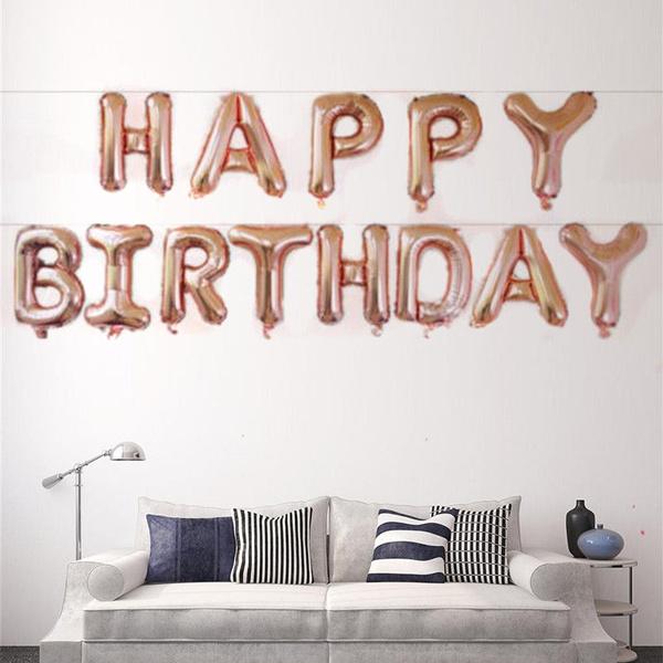 happybirthday, foilballon, Fashion, Home Decor