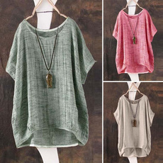 Summer, Fashion, Loose, short sleeves