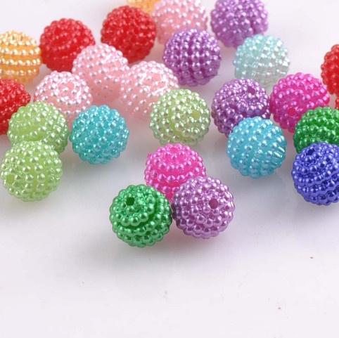 acrylicbead, Colorful, imitationpearlbead, Jewelry Making