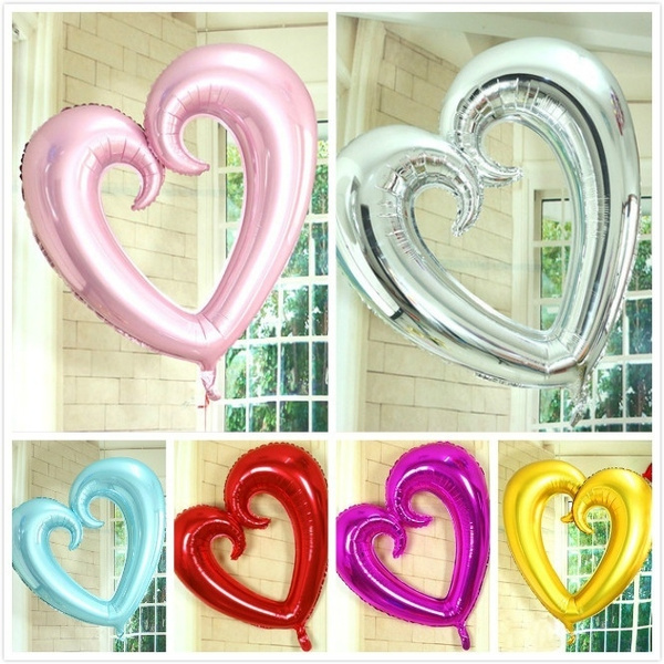 Heart, Love, ballon, aluminumfoilballon