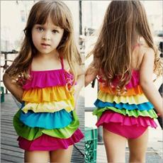Summer, rainbow, Shirt, bathing suit