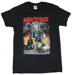 marsattack, Funny T Shirt, Cotton T Shirt, Sleeve