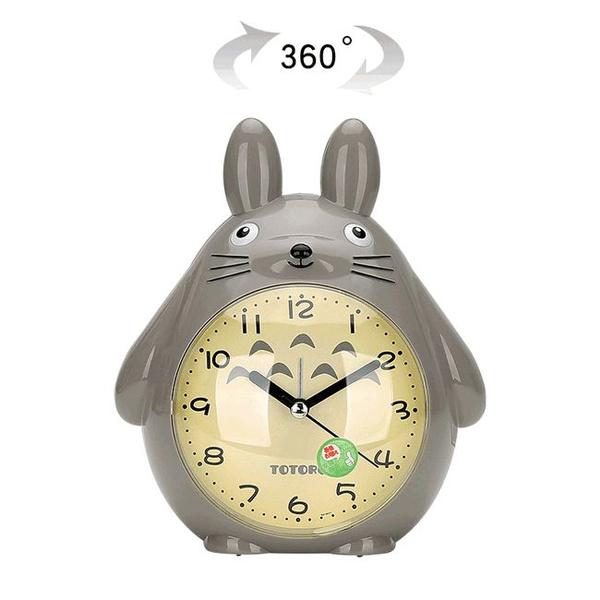 Cute Cartoon Alarm Clock Totoro Animal Clocks For Kids Novelty Bedroom Desk Stand Clock Wish