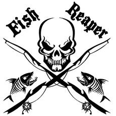 Decoración, skull, fish, Decal