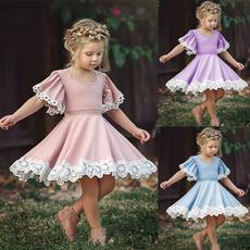 Lace, Dress, short sleeves, Women's Fashion