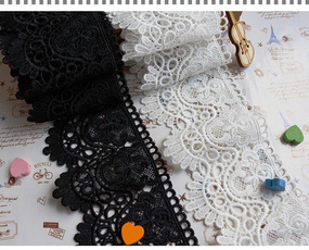 lace trim, Polyester, Flowers, Lace