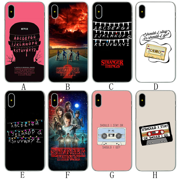 16A should i stay or should i go Stranger Things Hard Phone Shell Case for Apple iPhone 8 7 6 6s Plus 5 5S SE 5C 4 4S 10 Cover for iPhone X XR XS Max ...