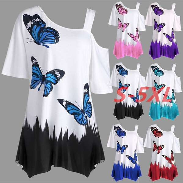 butterflyprint, Summer, Fashion, Tops & Blouses