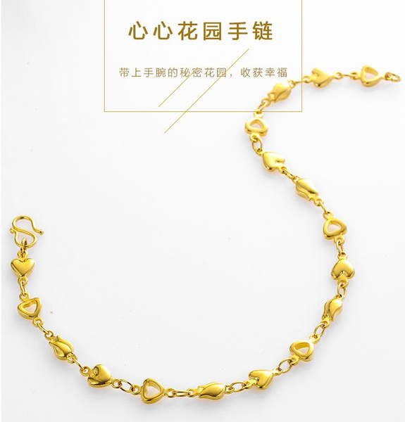 Fashion, lover gifts, gold, handchainbracelet