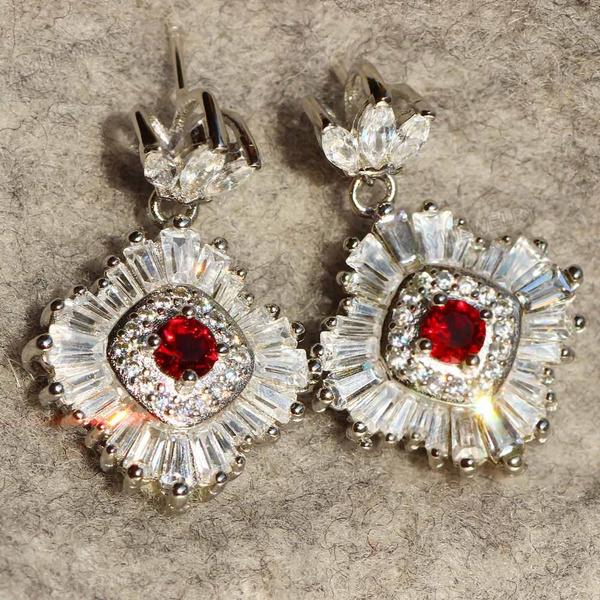 925 sterling silver, Stud, brideearring, Stud Earring