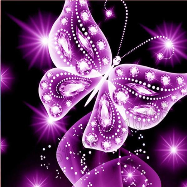 butterfly, shine, DIAMOND, crossstitch
