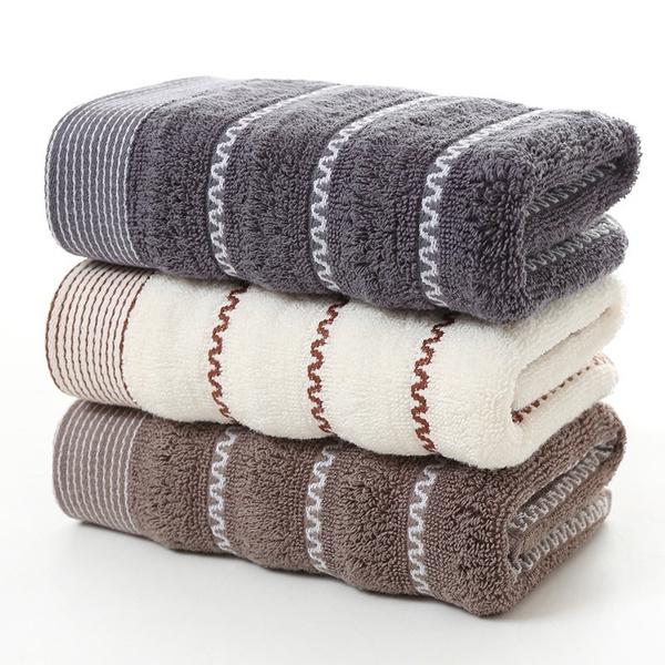 Cotton, Fiber, Towels, Stripes