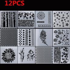 Decor, stencil, Scrapbooking, Stamps