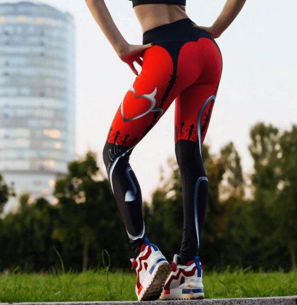 pants, Heart, Leggings, Yoga