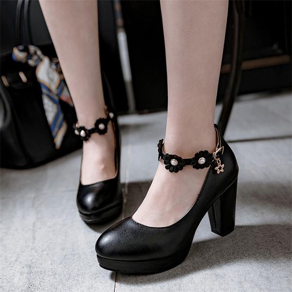 anklestrapshoe, Plus Size, womensingleshoe, Womens Shoes