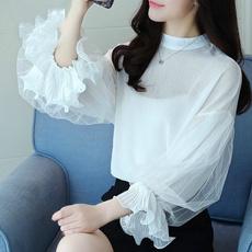 blouse, Fashion, Shirt, topsautumnchiffon