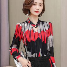 womenblouseslong, Fashion, Long Sleeve, sleevestripedshirt